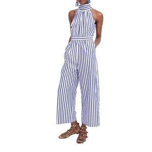 J.Crew Striped Halter Lighthouse Jumpsuit Sz 6